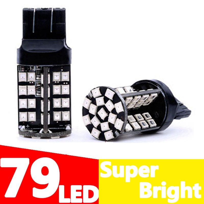 1pc T20 7443 W21/5W 79 smd 2835 LED auto brake light parking light stop lamp 21/5W car Turn Signals bulb white red amber yellow(China (Mainland))