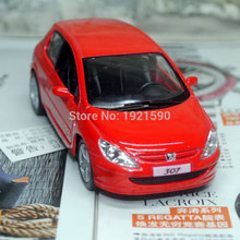 Brand New KINGSMART 1/32 Scale Car Model Toys France Peugeot 307 Diecast Metal Pull Back Car Toy For Gift/Kids/Collection(China (Mainland))