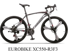 EUROBIKE 700C Road Bike,High Carbon Steel Frame & Fork,Alumminum Rim,Disc Brakes,High Quality Derailleur(China (Mainland))