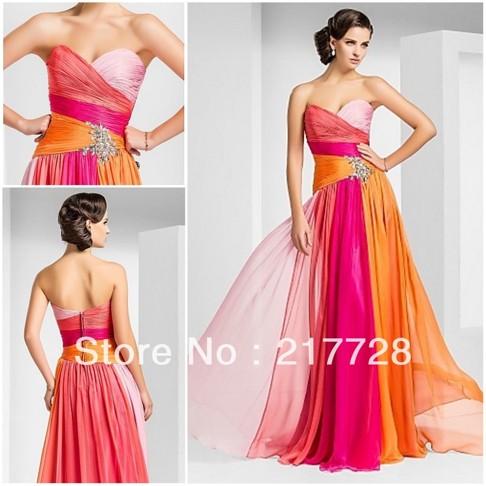 Pink and Orange Bridesmaid Dress | Dress images