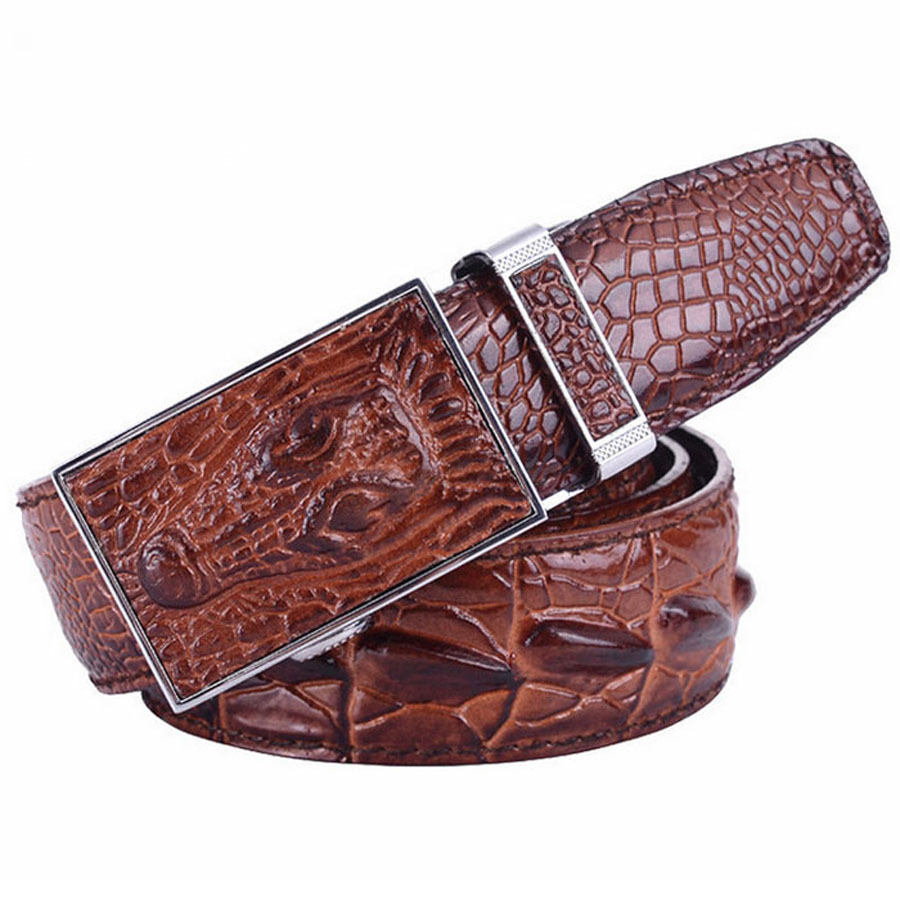 Gator Skin Belt Crocodile Skin Men Belts
