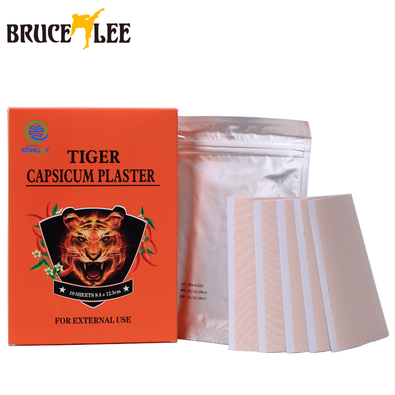 10 Pcs Box Chinese Medical Porous Tiger Capsicum Pain Relief Plaster Patch Health Care for Back