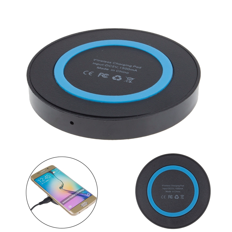 Qi Wireless Power Charger Portable Charging Pad For Samsung Galaxy S6 S6 Edge Edge+ S7 Note 5 Qi-enabled Mobile Phone Chargers(China (Mainland))