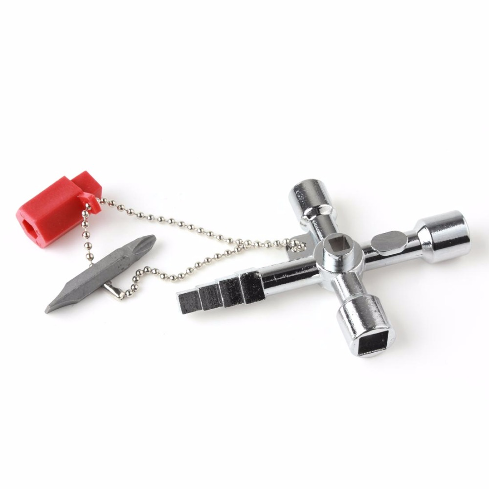 New Goods 1 PC 4 Way Utility Plumbing Plumbers Tool For Meter Box Gas Water Electric Stop Cock Tap Radiators Cupboards Key(China (Mainland))