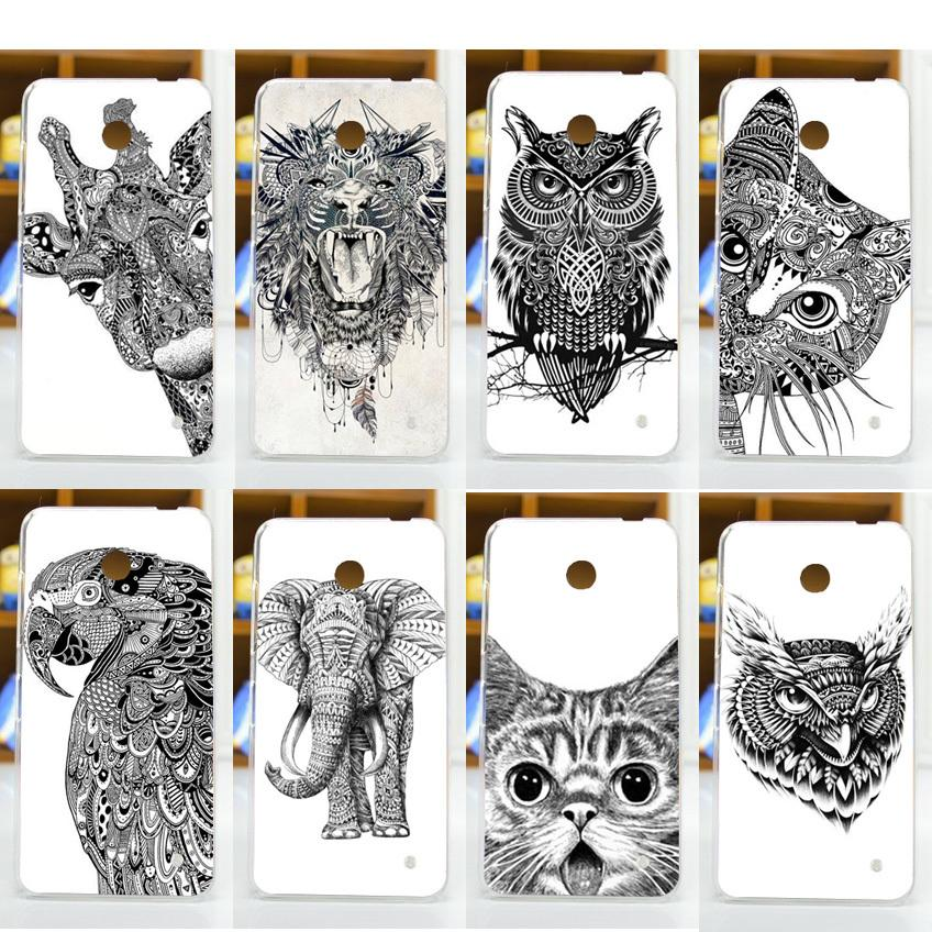 new arrival cool animal patterns painted case for nokia lumia 630 n630 nokia 630 mobile phone. Black Bedroom Furniture Sets. Home Design Ideas