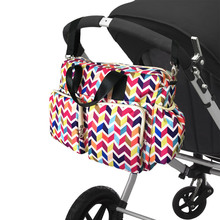 2017 New colorful wave baby diaper bag qulited baby stroller bag big capacity baby bag organizer mother travel maternity bag(China (Mainland))
