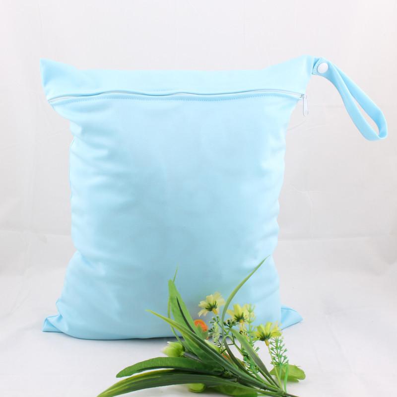 30 * 40 большой размер сплошной цвет одежда влажный сумки многоразовые водонепроницаемый детские ткани одежда влажный сухой мешок 1 шт. молния / шнурок