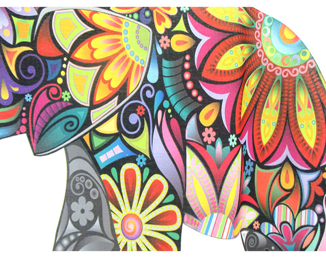 Flower Elephant printed t shirts casual top