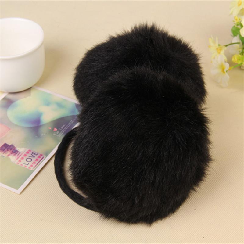 1 PCS Fashion warm rabbit fur earmuffs Autumn winter outdoor women warm earmuffs Christmas gifts multicolor(China (Mainland))