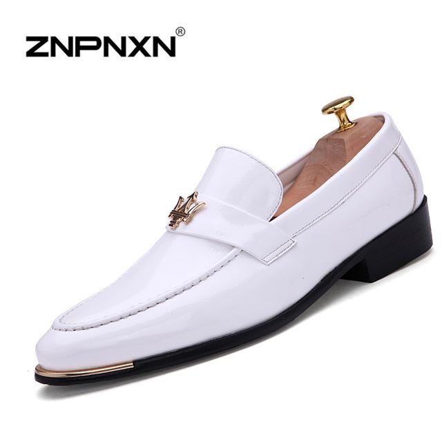 Мода квартиры обувь свободного покроя искусственная кожа мужчины квартиры оксфорды ...