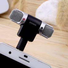 2016 Hot 1pc New Mini Stereo Microphone Mic 3.5mm Mini Jack PC Laptop Notebook for recording