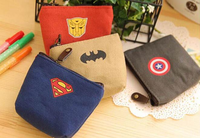 1PCS New Creativity Coin Bag LOL Super Man Canvas Wallet Coin Pouch Card Storage Bag Key Bag Coin Purses Unisex(China (Mainland))