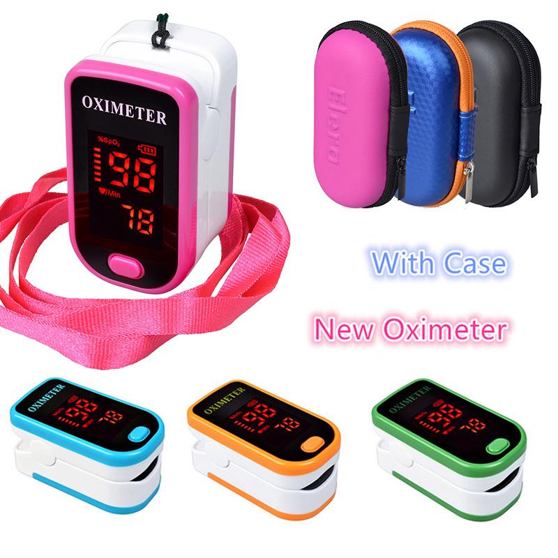 New!! Finger Pulse Oximeter With Case Fingertip Oximetro de pulso de dedo LED Pulse Oximeters Saturator Pulsioximetro(China (Mainland))