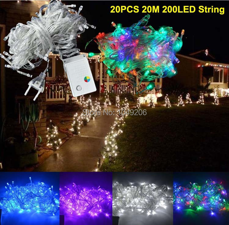 Wholesale 20M 200 LED Christmas String Lights Outdoor For