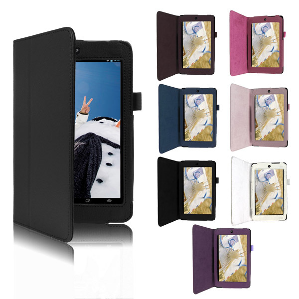 Fashion Folding PU Leather for Asus memo pad hd 7 protective Case Cover Stand for ASUS MeMO Pad HD 7 ME173X Tablet Accessories(China (Mainland))