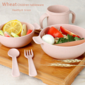 2016 Wheat Straw Dinner Box Bento Lunch Box Biological Degradable Material Tableware Set Food Container Children