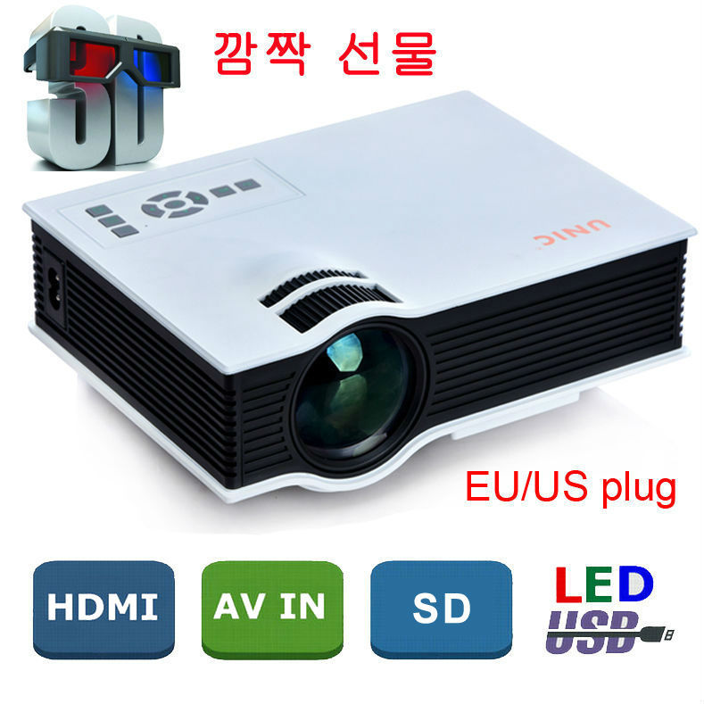 2015 Newest Original UNIC UC40 Mini Pico portable 3D Projector HDMI Home Theater beamer multimedia proyector Full HD 1080P video(China (Mainland))