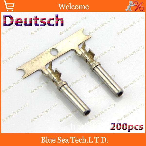 200pcs Female Deutsch Crimp terminal Connectors for Car,car engine terminals for VW Audi BMW,16-20 AWG<br><br>Aliexpress
