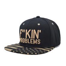 Promotion High Quality Kpop Snapback Caps Fuckin Problems Mens Black Cotton Fucking Hip Hop Cap Adjustable Gorra Baseball Cap(China (Mainland))