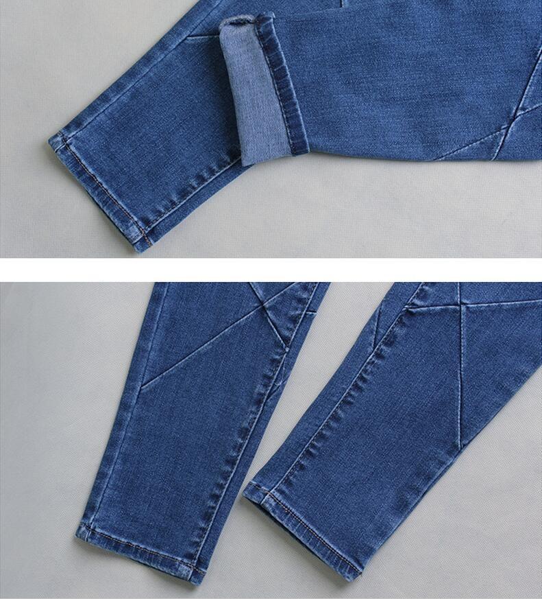 Скидки на Новый стиль джинсы Тонкий стрейч джинсы женские брюки осень новый вышивки крестом бороться брюки ноги
