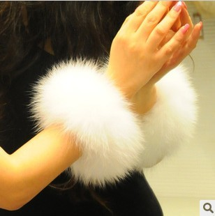 DIY luxury fox sleeve, making your clothes more fashion, fur sleeve, fur sleeve-coverings free shipping(China (Mainland))