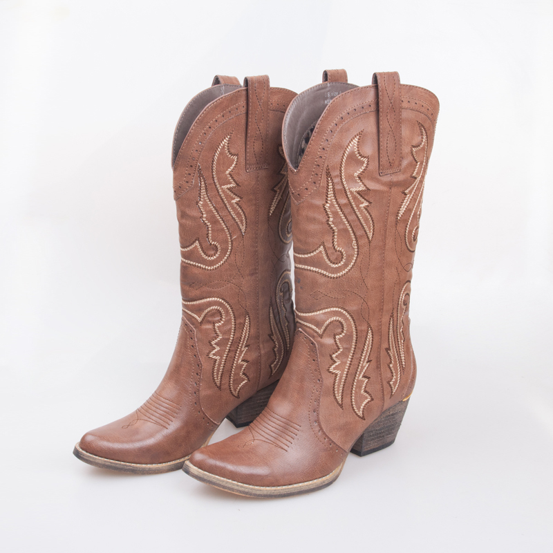 2015 cowboy boots botas bota feminina size13 women shoes round toe western cowgirl boot shoes(China (Mainland))