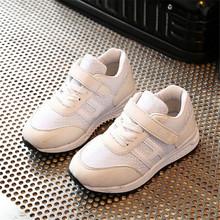 2017 Весна Детские Кроссовки Мальчиков Спортивная Shoes Мода Кожа Воздухопроницаемой Сеткой Девушки Случайные Shoes Chaussure Enfant(China (Mainland))