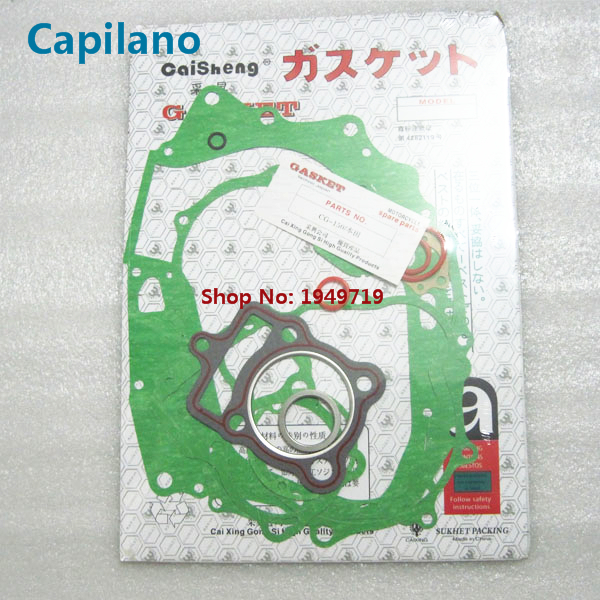 motorcycle CG150 full gasket complete gasket include cylinder gaket for Honda 150cc CG 150 engine seal parts (bright color)(China (Mainland))