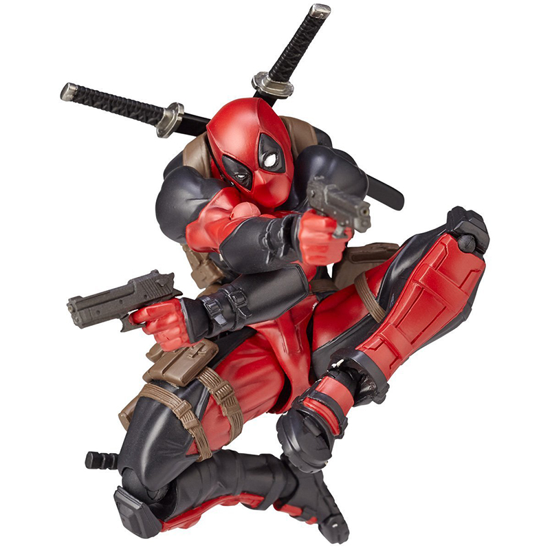 FIGMA X-MAN Series Spiderman Figure NO.001 Revoltech Deadpool With Bracket NO.002 Revoltech Spider Man Action Figures (11)