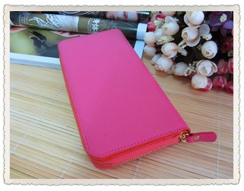Free Shipping Women's Leather Long Wallets and multi  compartments