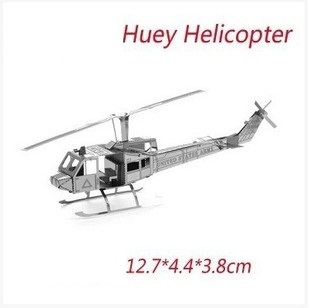 Hot Sale 3D Metal Puzzle Educational Toys For Children Gift Huey helicopters C03011 Free Shipping(China (Mainland))