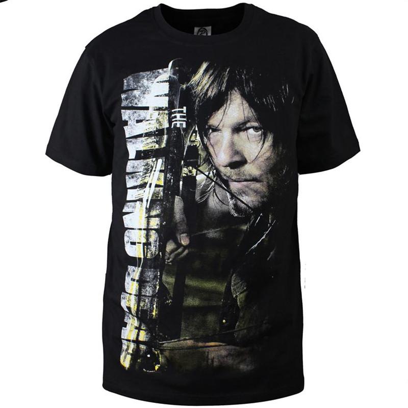Men/women t shirts Summer Short Sleeve T Shirt Cotton Plus Size S-6xl walking dead Daryl/Rick Cosplay Costume AMD1006 - MKMJ Flagship Shop store