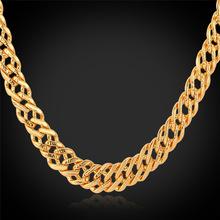 Золотые Цепи Для Мужчин Ювелирные Изделия Розовое Золото/Позолоченный Венецианский Цепи 6 ММ Классический Итальянский Ожерелье Оптовая N442(China (Mainland))