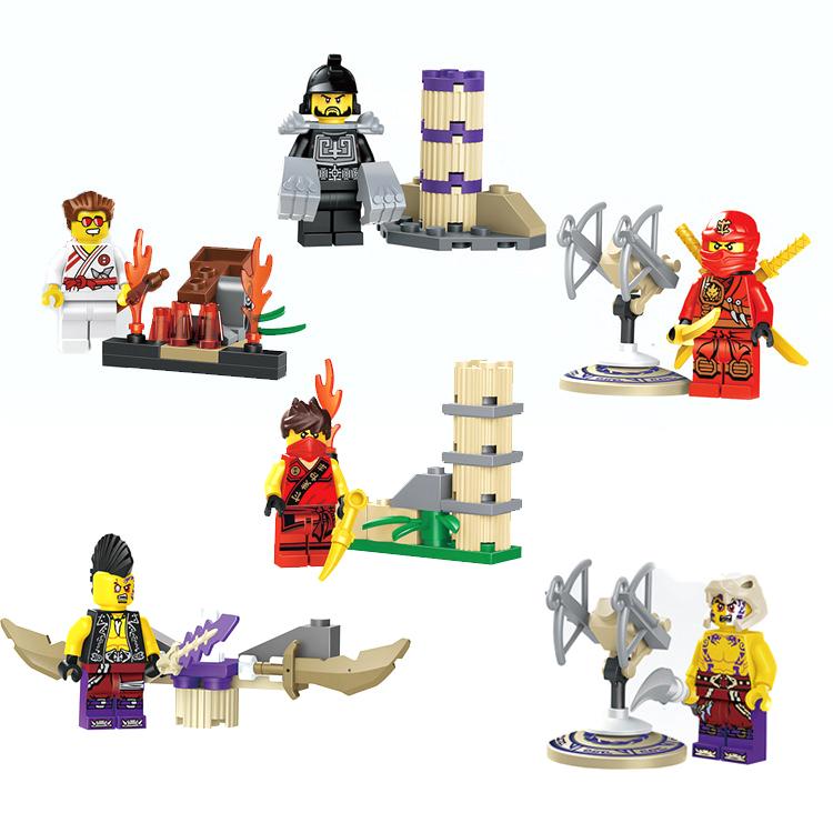 6Pcs/Lot Plastic Phantom ninjago Series Minifigure Building Blocks Set Model Compatible Legoe Kids Toys Figures Ninja Kai Karlof(China (Mainland))