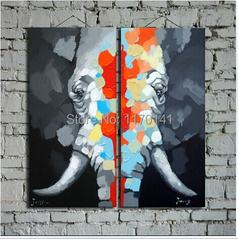 Abstract Wall Art on Canvas Canvas Animal Oil Wall Art