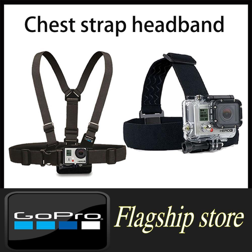 GoPro Hero3 Accessories Harness Adjustable Elastic Chest Belt + Head Stap Mount Hero 2 3 Black edition Color - Smart Living Center store