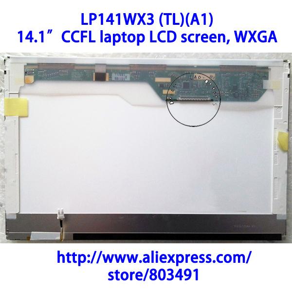 """LP141WX3 (TL)(A1), 14.1"""" laptop LCD screen, WXGA, CCFL backlight, 1280*800 pixels, LP141WX3-TLA1"""