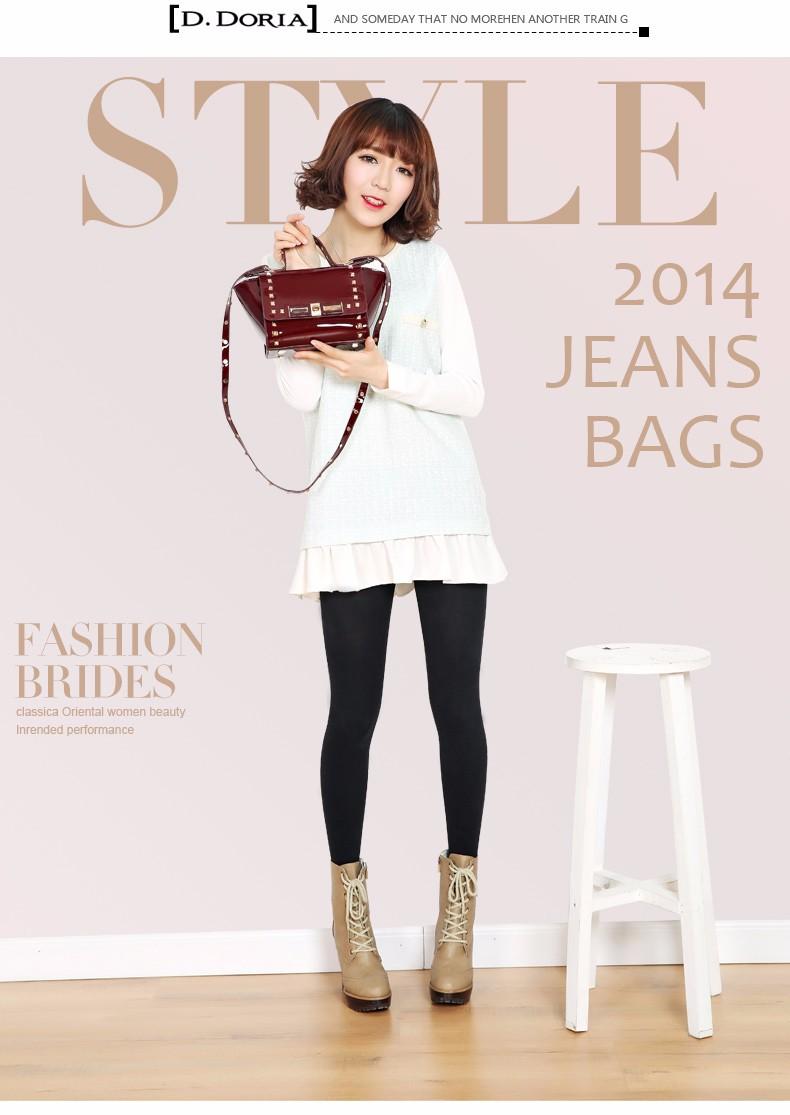 Trendy Patent Leather Chic Rivet Flap Twist Lock Women Designer Classy Small Shoulder Bag Ladies Occident Style Crossbody Bag