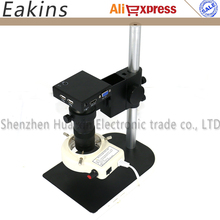"""Buy Industrial Microscope sets HD 1080P 1/2.5"""" CMOS HDMI VGA Microscope Camera +130X C mount lens+56 LED ring Light+stand holder for $154.99 in AliExpress store"""
