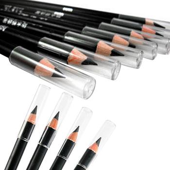 2Pcs Black Smooth Waterproof EyeLiner Eyebrow Pencil Cosmetic Makeup Beauty Tool 7H3Z 9JA5