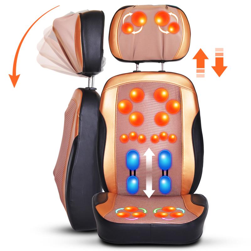 2015 NEW infrared heating massage cushion shiatsu massager cushion chair electric tapping massage pillow kneading machine(China (Mainland))