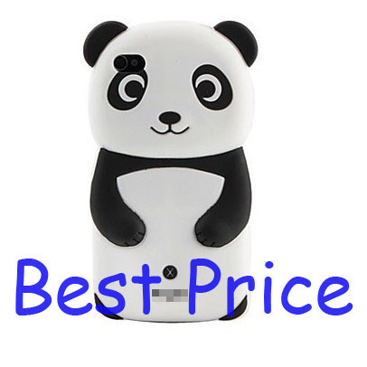 Lot 10pcs Lovely Panda Pattern Silicone Case for iPhone 4 and 4S, Best Price