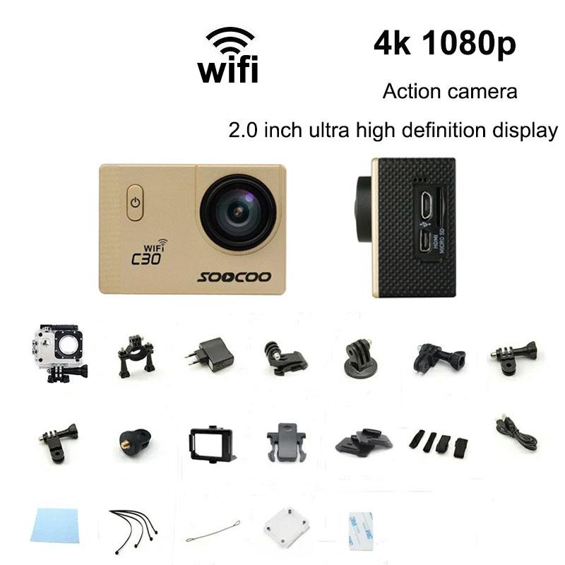 Фотография 2016 New Camera SOOCOO C30 Wifi Ultra HD 16MP 2K 2.0 Screen 170/120/90 Angle Adjustable Waterproof Outdoor Sports Action Camera