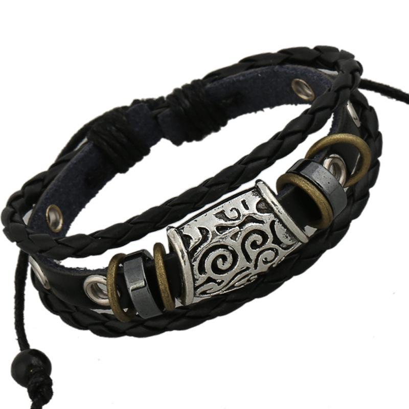 Buy 2015 Fashion Jewelry Bracelet Men Vintage Handmade Braid ...