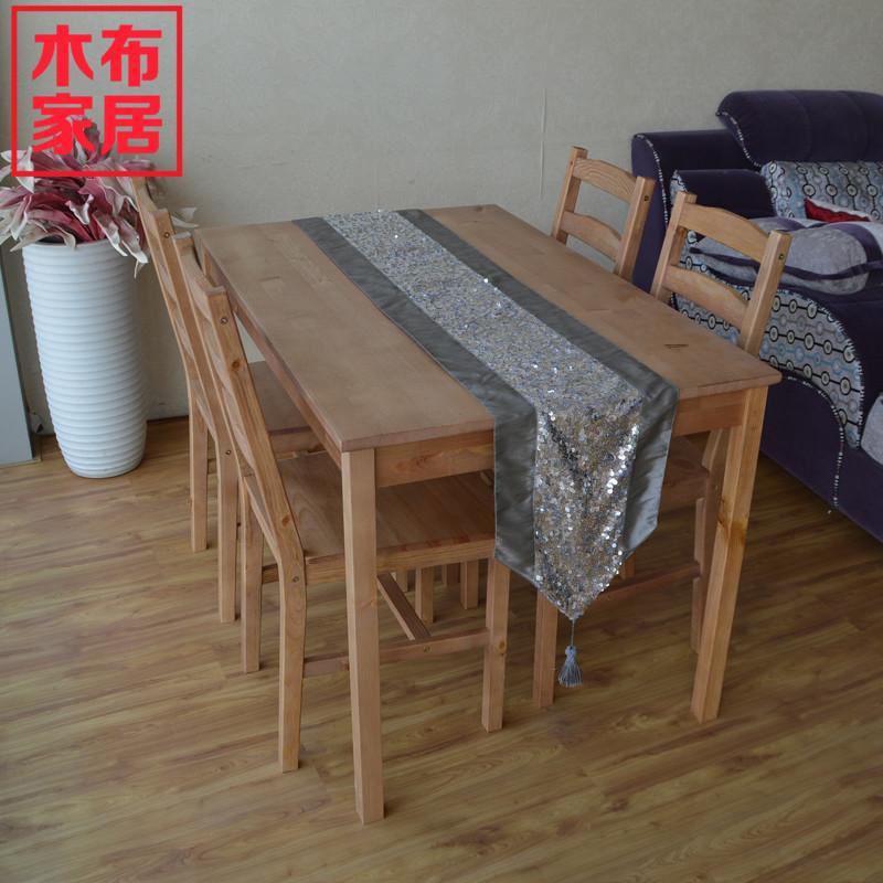 IKEA solid wood furniture wood green cloth table Dining  : IKEA solid wood furniture wood green cloth table Dining Chairs child 4 to table four chairs from www.aliexpress.com size 800 x 800 jpeg 177kB