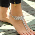 New Vintage Charm Anklets Chain Jewelry Beach Ancient Silver Plated Women Anklet Foot Accessories