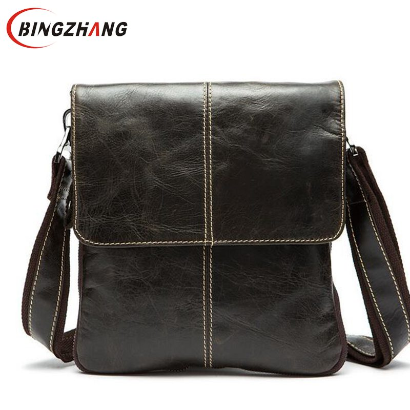 Famous brand genuine leather bag men bag men messenger bags design crossbody bags fashion brand for man cowhide leather L4-1827(China (Mainland))