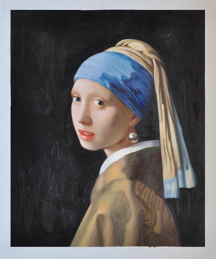 Online kopen wholesale meisje met de parel schilderen uit china meisje met de parel schilderen - Corridor schilderen ...