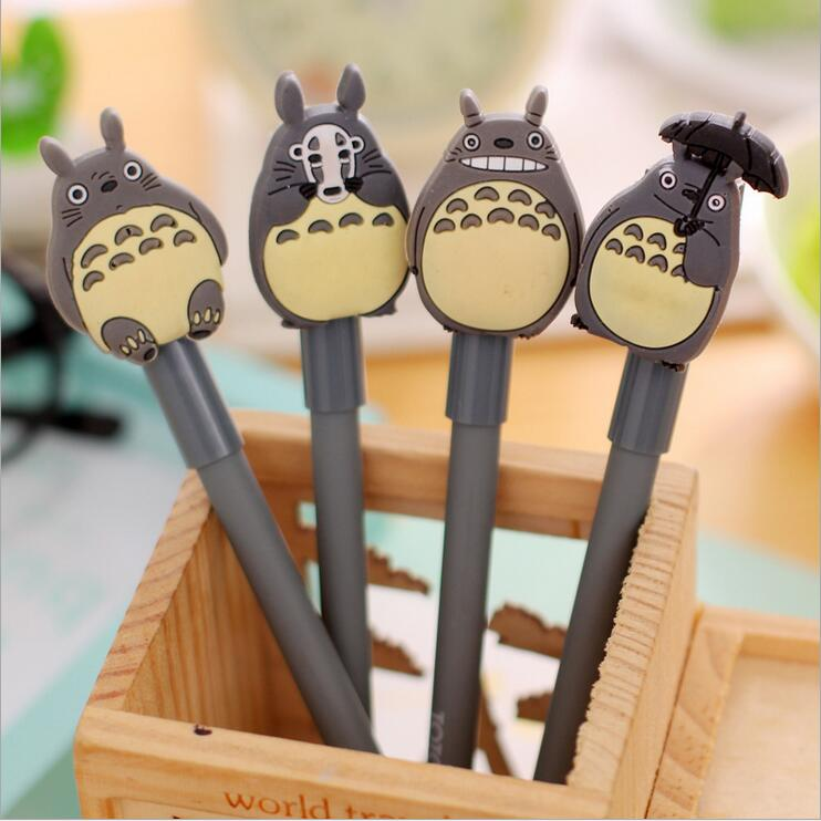 New Cute My Neighbor Cat Gel 0.38mm black Gift Pen Escolar Papelaria School Office Supplies Office Promotional Gift WJ0235(China (Mainland))