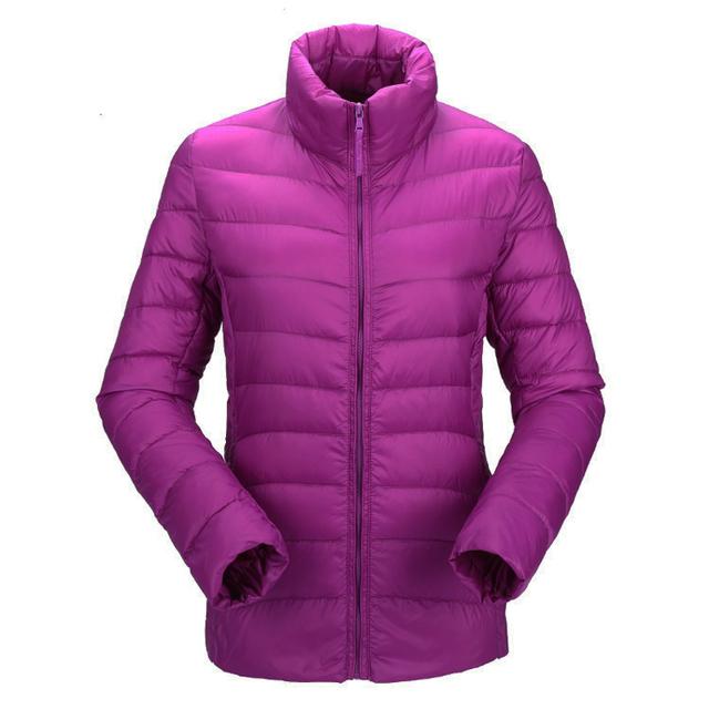Женщины ultra light down jacket winter duck down jackets Женщины slim Тонкий Длинный ...